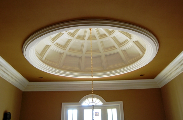 Coffered Ceiling Foyer : Ceiling domes smooth ornate coffered