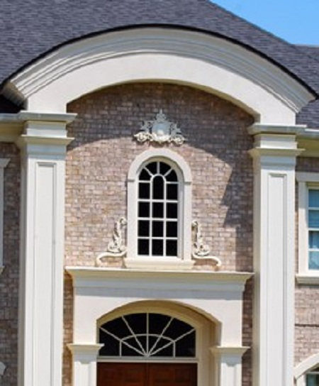 Exterior Architectural Accents : Applique portfolio cast plaster architectural decor