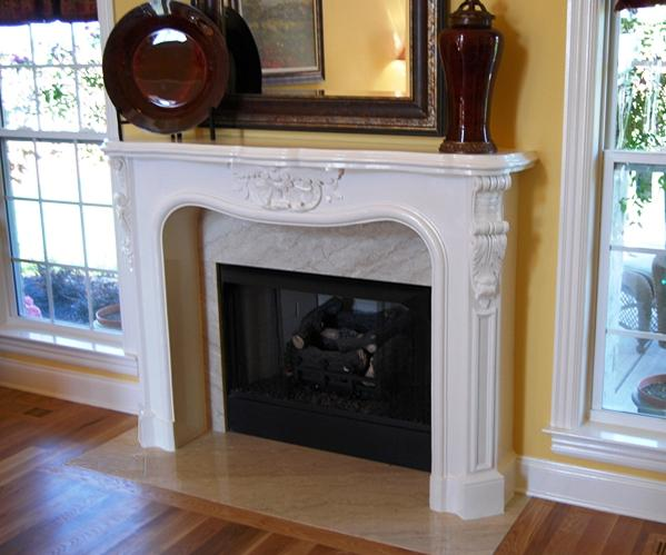 ... Cast Stone Fireplace Mantel - Faux Travertine Finish