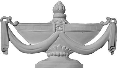 Grecian Urn with Drape | Cast Plaster Applique
