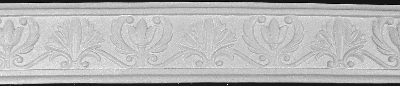 Decorative Lily and Leaf Plaster Chair Rail Molding