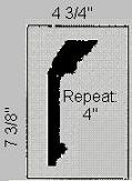 Straightline Waterleaf Plaster Molding Profile