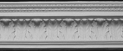 Straightline Waterleaf Plaster Crown Molding