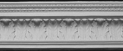 Straightline Waterleaf Plaster Crown Molding