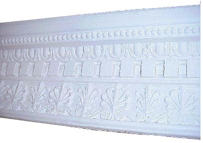 Acanthus Leaf, Dentil and Beaded Molding